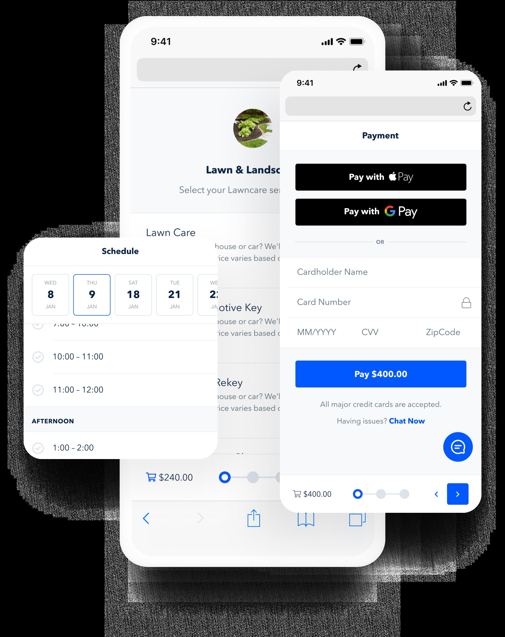 GoSite's booking tool
