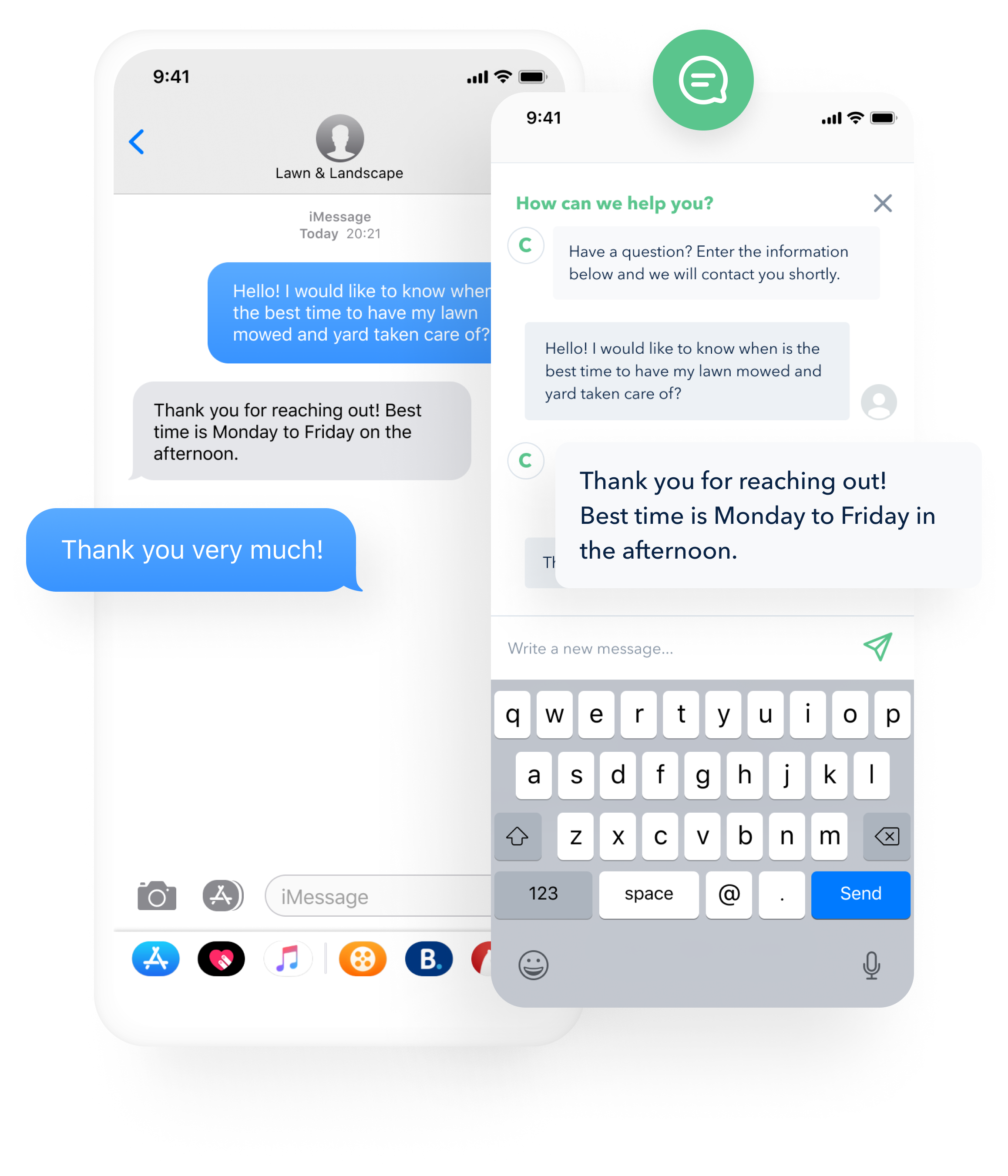 GoSite's messenger tool