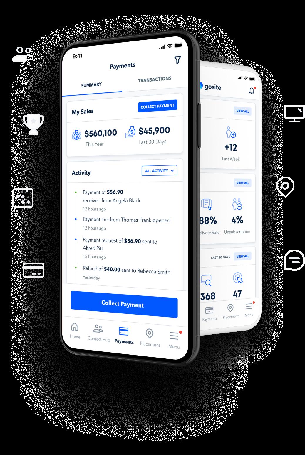 GoSite app on mobile phone